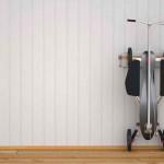 Patinete STP de quatro rodas a pedal e inspirado em skate