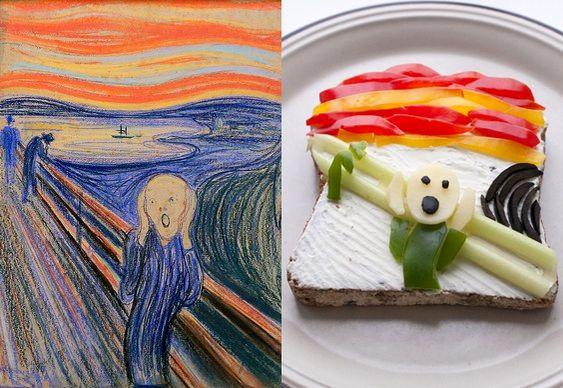 Arte com sanduíche