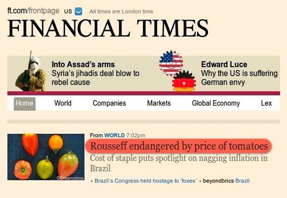 Inflação no Financial Times
