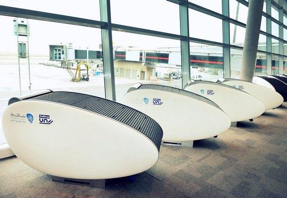 Cápsula de soneca em aeroporto