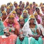 A dura expressão de 'alegria' no rosto das noivas indianas