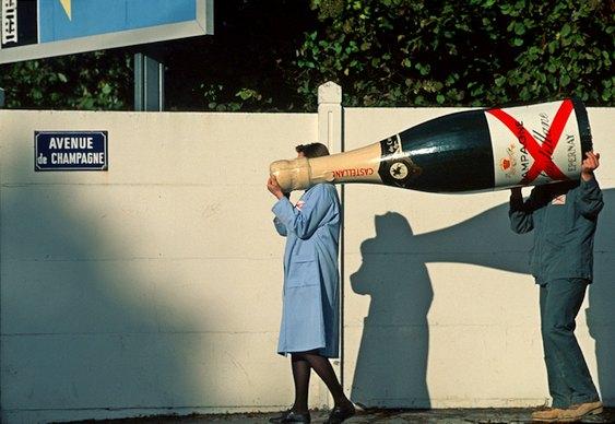 Garrafa gigante de champanhe