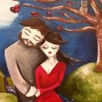 Mulher pinta 'homem dos sonhos' em quadro premonitório