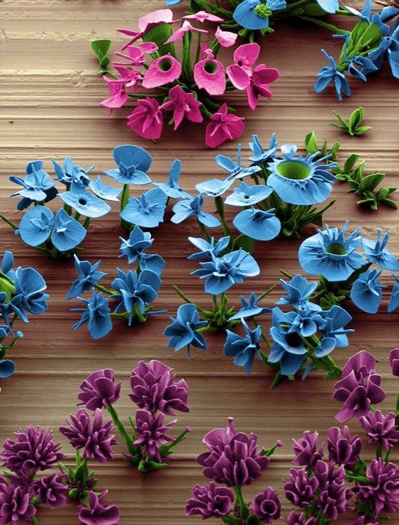 Flores cristalinas