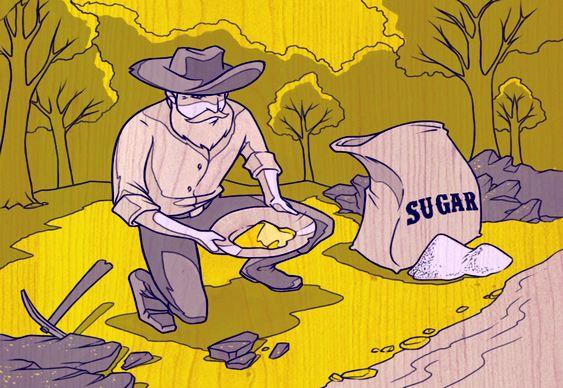 Extração de ouro com açúcar