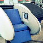 As cápsulas ovais para tirar uma soneca nos aeroportos