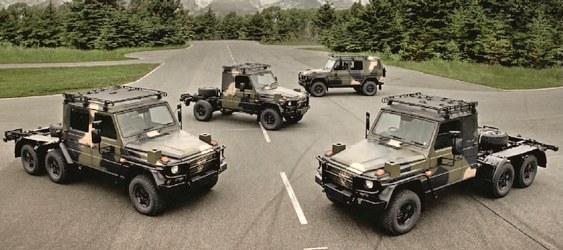 Jipe Mercedes com seis rodas
