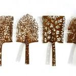 A nobre arte da reciclagem com velhas pás enferrujadas