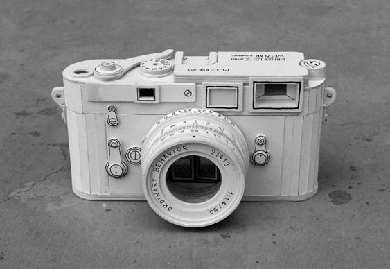 Máquina fotográfica papelão
