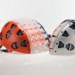 Novo capacete para ciclista dobrável como um origami