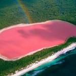 Visões do paraíso na Terra: o incrível lago cor-de-rosa
