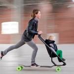 Longboard Stroller, o carrinho de bebê adaptado sobre skate