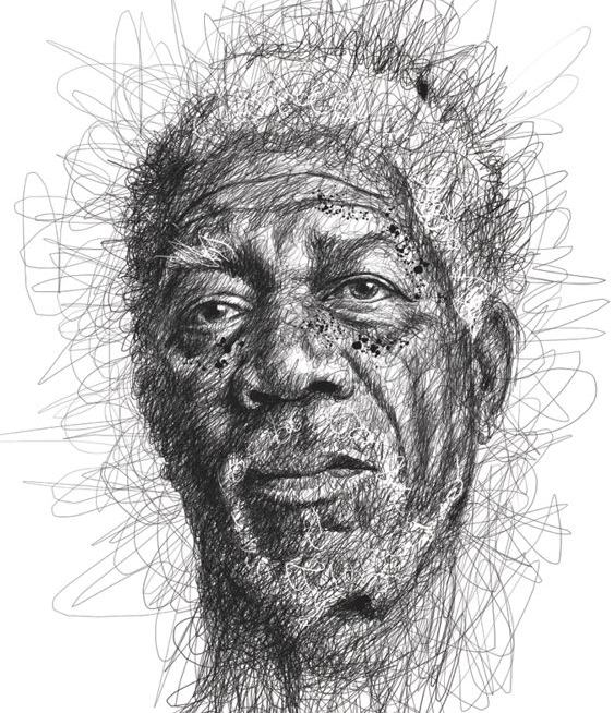 Retrato de Morgan Freeman