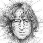 Retratos de artistas famosos em campanha sobre dislexia