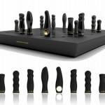 Jogo de xadrez erótico com vibradores na função das peças