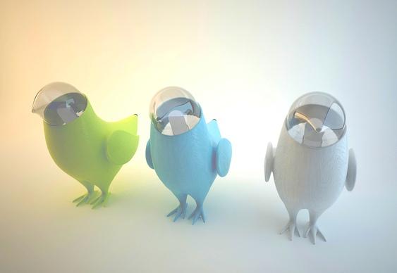 Abajur pássaro