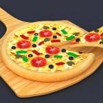 Painéis murais de pizzas e letreiros em 3D para pizzarias