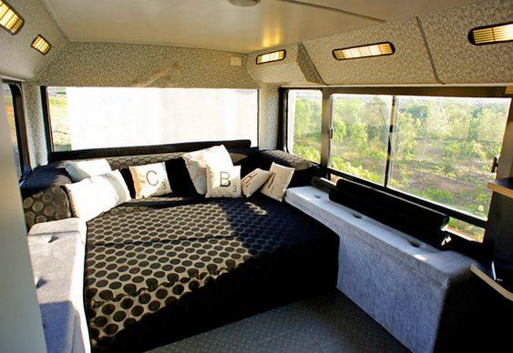 Quarto de dormir em ônibus