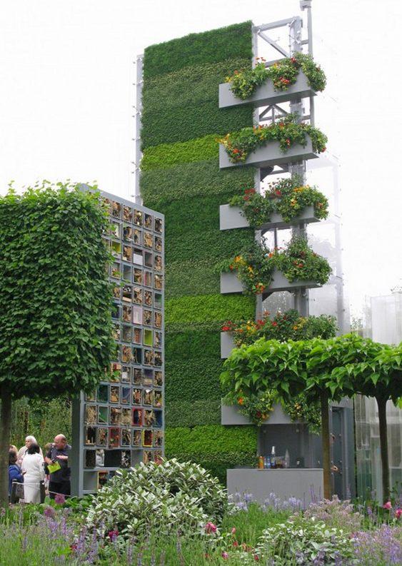 Vegetação em edifício