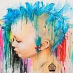 Punk Birds: aquarela grunge e crua da artista russa Lora Zombie