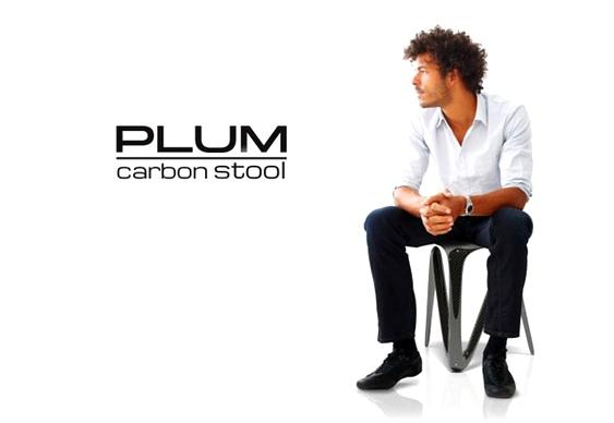 Plum Carbon Stool