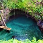 A piscina natural de To Sua, na ilha Upolu, em Samoa, Polinésia