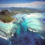 Surreal ilusão de ótica da Cachoeira Submarina nas Ilhas Maurício