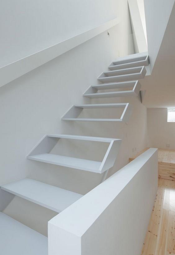 Escadaria com design criativo