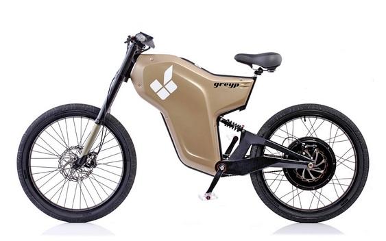 Meio bicicleta meio moto