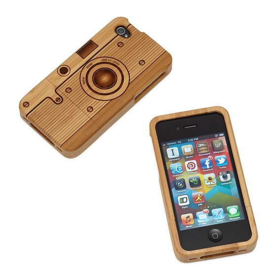 Smartphone de madeira - estojo