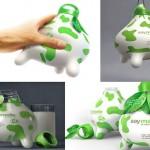 Novas embalagens para leite com a forma de tetas de vaca