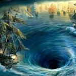 Os redemoinhos oceânicos gigantes capazes de engolir barcos