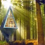 Projeto para construção de casa ecológica inspirada nas árvores