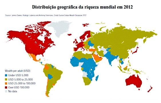 Geografia da riqueza no mundo