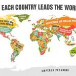Mapa dos clichês revela o que cada país lidera hoje no mundo