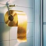 Rolo de papel higiênico de ouro 22 quilates por mais de US$ 1 milhão
