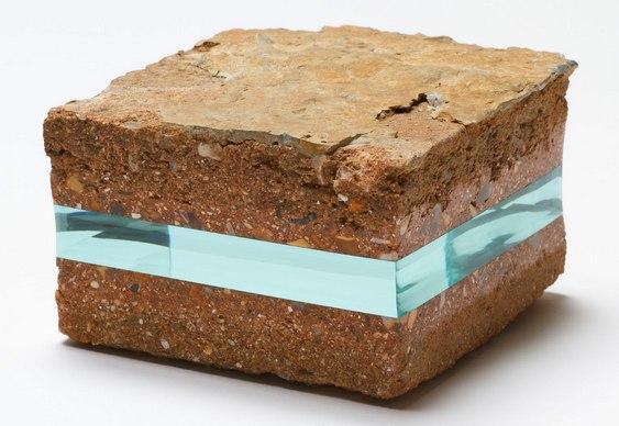 Arte com vidro e pedras