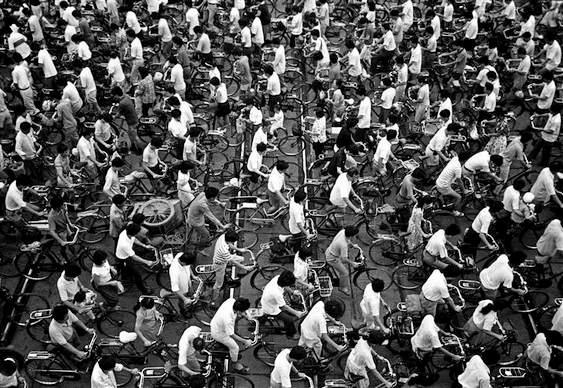 Congestionamento de bikes na China