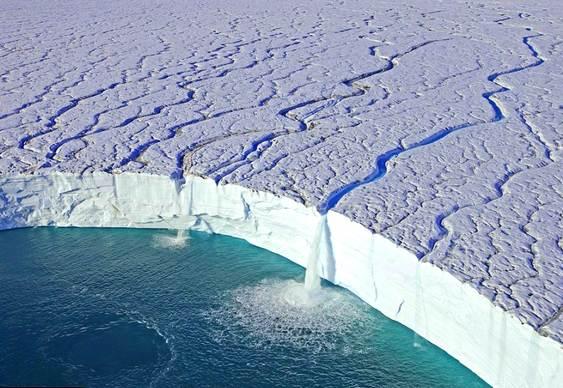 Cachoeira no gelo