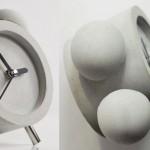 Como fazer um relógio-despertador retrô de cimento, gesso ou argila
