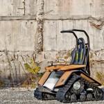 Cadeira de rodas Der Ziesel com lagartas para esportes radicais