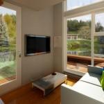 Projeto de casa compacta e barata em dois andares para solteiros