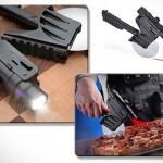 O cortador tático de pizzas com guia a feixe de raio laser