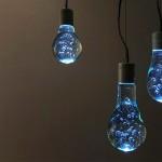 Reciclagem de lâmpadas queimadas cria ilusão de ótica decorativa