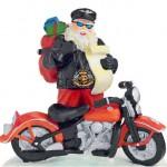 Noite Feliz tocada com ronco do motor de motocicleta Harley-Davidson
