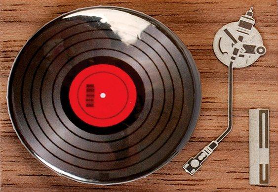 Pin LP na Vitrola