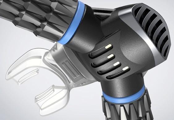 Respirador submarino com filtro a bateria