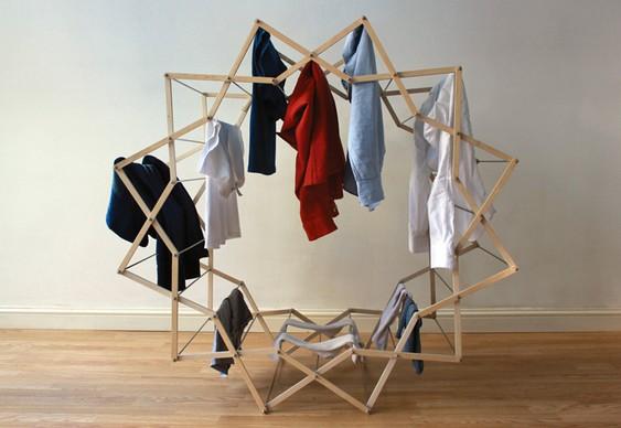 Estrela reversível em armário