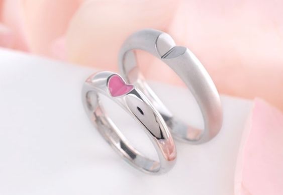 Par de anéis de casamento