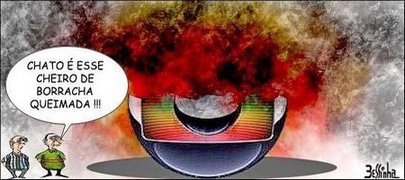 Charge Rede Globo manipulação